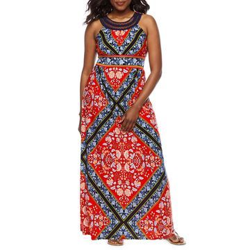 Studio 1 Sleeveless Maxi Dress-Petite