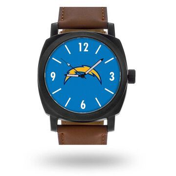 Sparo Los Angeles Chargers Brown Personalized Strap Watch