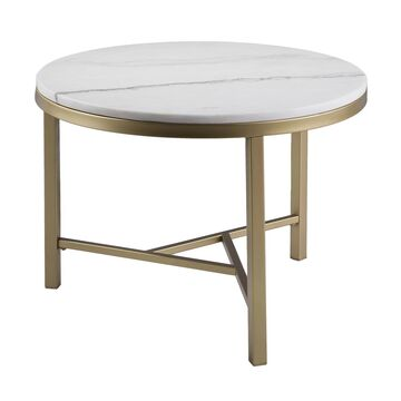 Southern Enterprises Garza Marble Accent Table