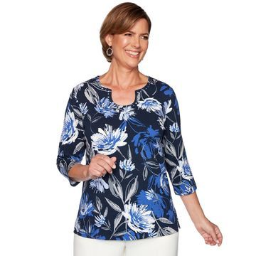 Women's Alfred Dunner Beaded Floral Top