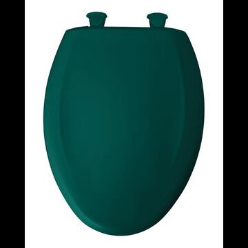Bemis 1200SLOWT Elongated Closed-Front Toilet Seat and Lid with Whisper-Close Easy-Clean & Change and STA-TITE Seat Fastening System Teal