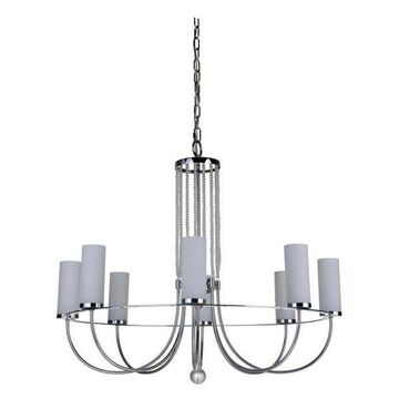 Jeremiah Lighting 40628 Cascade 8-Light Pillar Candle Chandelier