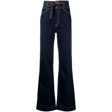 Carola high-waisted flared jeans
