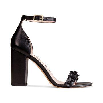 Avec Les Filles Womens Michele Leather Open Toe Special