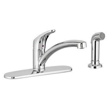 American Standard 7074.04 Single Handle Kitchen Faucet, Polished Chrom