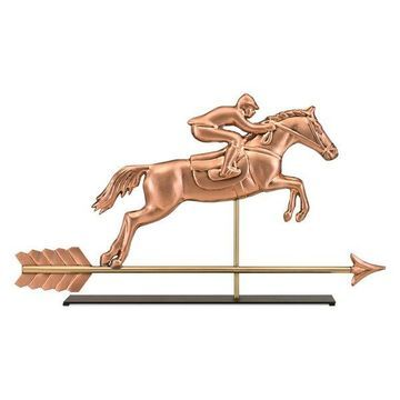 Horse and Rider Copper Table Top Sculpture