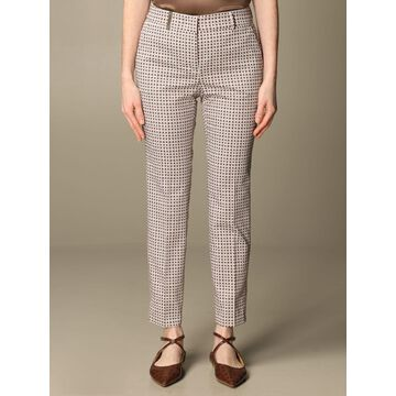 Peserico trousers in patterned cotton