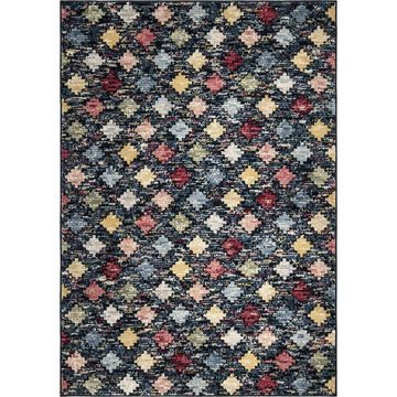 Orian Rugs West Village Color Patch 5 x 8 Indoor Geometric Southwestern Area Rug in Blue
