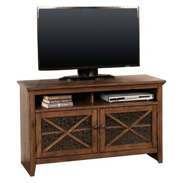 Savannah TV Console With Textured Glass, 50