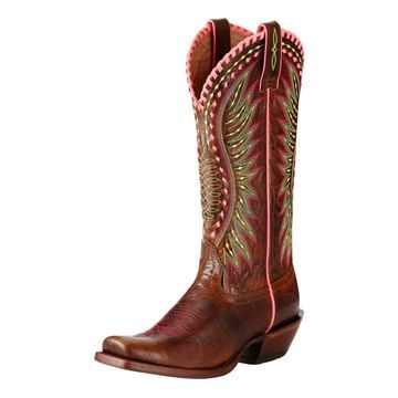 Ariat Western Boot Women Derby Cutter Toe Crackled Cafe 10019936