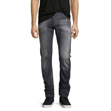 Arc 3D Slim-Straight Jeans, Gray