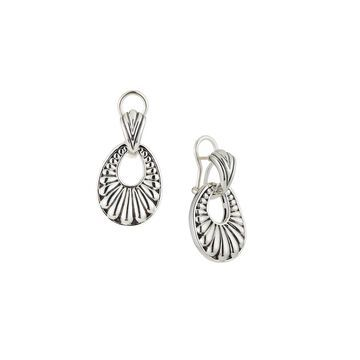 Fluted Oval Door Knocker Earrings