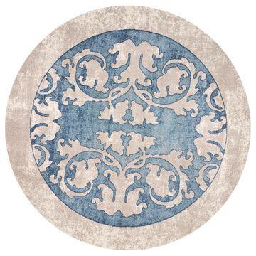 Libby Langdon Winston Teal Watercolor Batik Rug