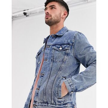 New Look regular fit denim jacket in mid blue wash