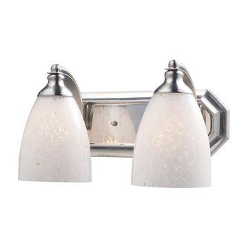 Westmore Lighting Homestead 2-Light Nickel Traditional Vanity Light Bar