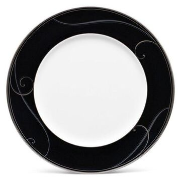 Noritake Platinum Wave Ebony Dinner Plates, Set of 4