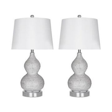Abbyson Living Set of 2 Beaded Table Lamps
