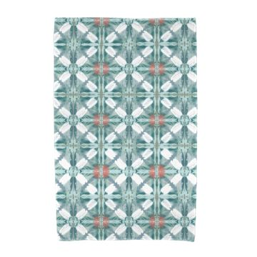 36 x 72-inch E by Design Beach Tile Geometric Print Beach Towel