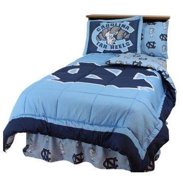 North Carolina Tar Heels Bed in a Bag Twin, w/ Team Colored Sheets, Ki