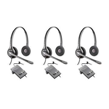 Plantronics SupraPlus HW261N with M22 Amplifier-3pack Dual Earpiece Wideband Headset