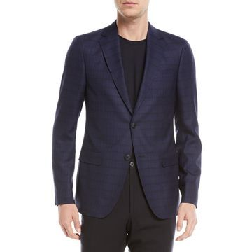 Check Wool-Silk Jacket