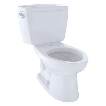 Toto Drake 2-Piece Elongated 1.6 GPF Toilet, Cotton White