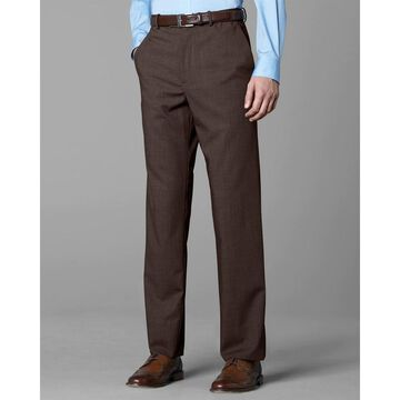 Twin Hill Mens Pant Brown Heather Performance Flat Front