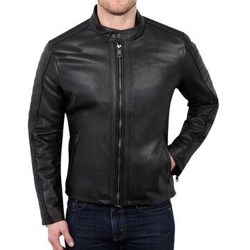 William Rast Black Mens Size 2XL Full-Zip Motorcycle Leather Jacket