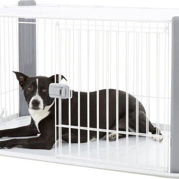 IRIS Pet Wire Dog Crate with Mesh Roof