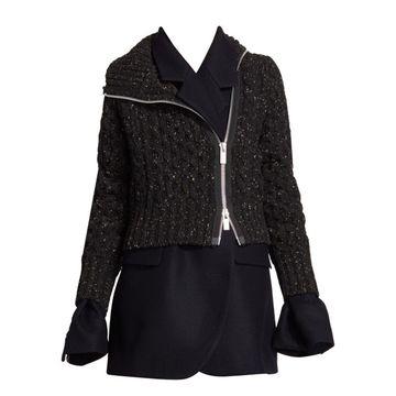 Layered Wool Jacket