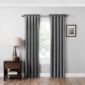 Eclipse Miles Blackout Rod-Pocket Curtain Panel