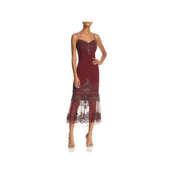 Aidan Mattox Womens Cocktail Dress Party Midi