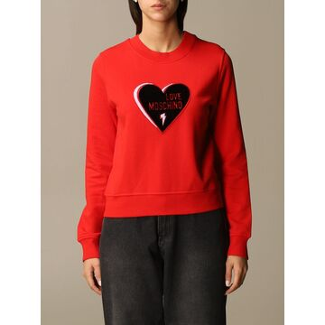 Love Moschino Sweatshirt Love Moschino Sweatshirt With Maxi Heart