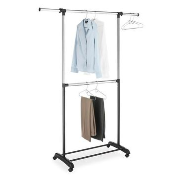 Whitmor Adjustable 2-rod Garment Rack