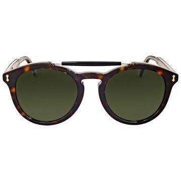 Gucci Dark Havana Round Sunglasses