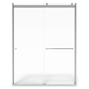 American Standard 76-in H x 44-in to 48-in W Semi-Frameless Sliding Silver Shine Shower Door (Clear Glass)   AM00810400.213