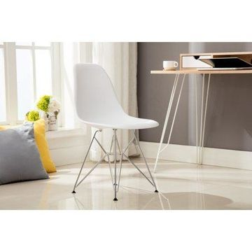 Porthos Home Midcentury Modern Eames Style DSR Dining Room Chair with Chrome Finish Legs, Easy Assembly