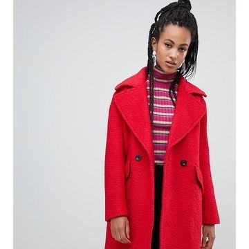 Esprit textured coat in red
