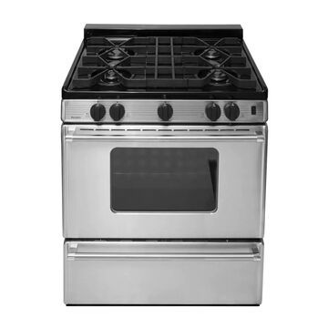 Premier 30-in 4 Burners 3.9-cu ft Freestanding Gas Range (Stainless) | P30S3102PS
