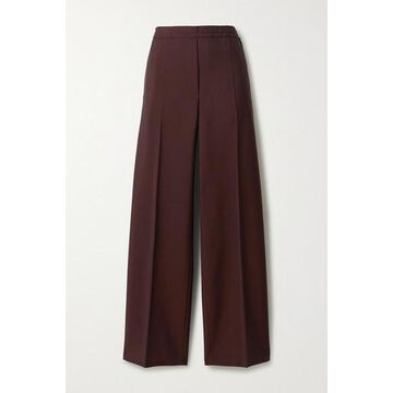 Acne Studios - Wool And Mohair-blend Straight-leg Pants - Chocolate