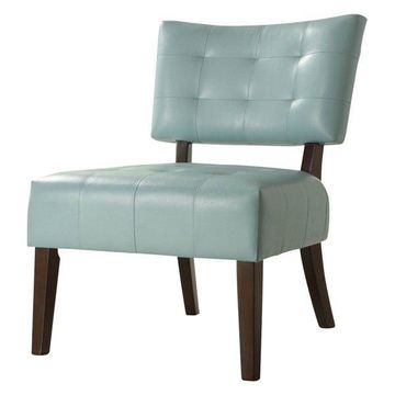 Homelegance Warner Armless Accent Chair in Bi-Cast Vinyl - Dark Brown