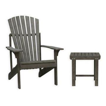 Vifah Renaissance 2-Piece Outdoor Patio Conversation Set in Vista Grey