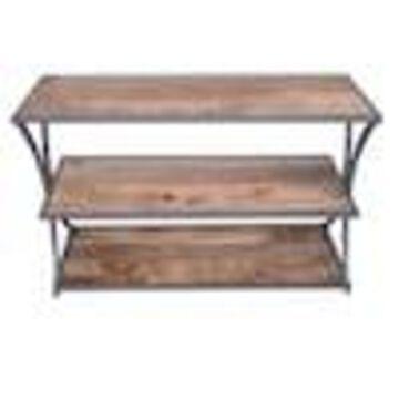Benzara Brown Rustic Console Table