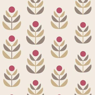 Beacon House Oslo Red Geometric Tulip Wallpaper