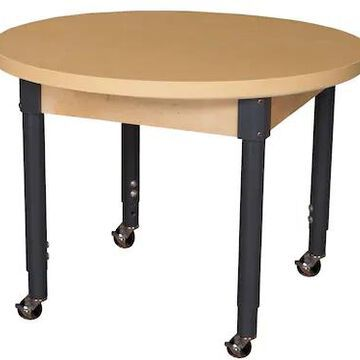 Wood Designs Mobile 36 Round High Pressure Laminate Table with Adjustable Legs 20-31 (HPL36RNDA1829C | Quill