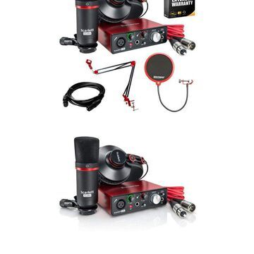 Focusrite Scarlett Solo Studio USB Audio Interface & Recording Bundle 2nd Gen...