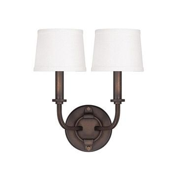 Chastain 2-light Tobacco Wall Sconce