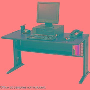 Safco Reversible Top Computer Desk (Brown)