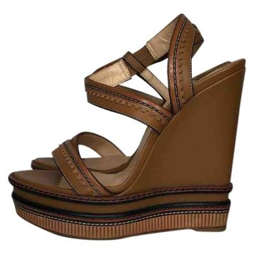 Christian Louboutin Brown Leather Sandals