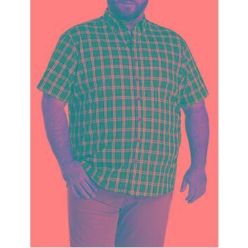 Big & Tall Harbor Bay Easy-Care Medium Plaid Sport Shirt - Sunflower